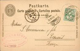 CPA Illustrée Publicitaire - Kuffer Et Scott Fabrique De Chocolat Ph. Suchard Neuchâtel (Suisse) - 1904 - NE Neuchatel