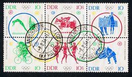 15. Juli 1964, Olympische Sommerspiele In Tokio, Sechserblock, Michelkatalognummer 1039/44, Sauber Gestempelt - DDR