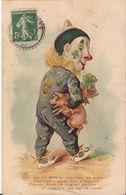 CPA HUMORISTIQUE écrite Et Oblitérée 1908 - 1900-1949