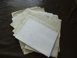Archive Lozère Gard Baron De Cabiron + De 30 Documents 19ème Saint Etienne Vallée Française - Manuscripts