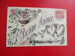 CPA 85 BONNE ANNEE DE SAINT MESMIN LE VIEUX FANTAISIE - France