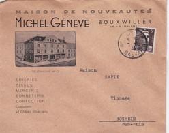 Bouxwiller Lettre à Entête 1946 Michel Génevé Maison De Nouveautés - Marcophilie (Lettres)