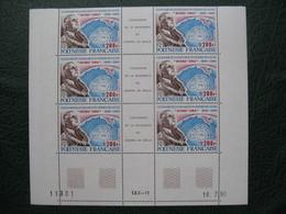"""Bloc De 6 Timbre Coin Daté 18/7/1990  Polynésie Française """" Centenaire De La Naissance Du Général  De Gaulle """" N° 364A - Polinesia Francese"""