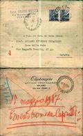 8386a)  Busta  Con 2valori Da 6 Lire Democratica Da Firenze X Catania 19-5-47 - 6. 1946-.. Repubblica