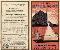 "Petit Calendrier Ancien 1929 - "" Usine BLANCHE PORTE "" - Calendar - WXC5 - Calendriers"