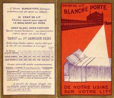 "Petit Calendrier Ancien 1930 - "" Usine BLANCHE PORTE "" - Calendar - WXC5 - Calendriers"