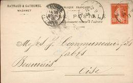 CPA Publicitaire - Raynaud Et Gathumel Laines Et Peaux Mazamet - 1913 - Mazamet
