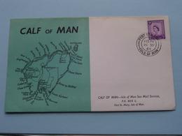 CALF Of MAN - ISLE Of MAN Sea Mail Service ( FDC ) EUROPA - 1964 ( See Photo's ) ! - Man (Ile De)