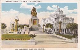 Cuba Havana Luz Caballero Park And Statue - Cuba