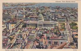 Cuba Havana Aerial View Of The City Curteich - Cuba