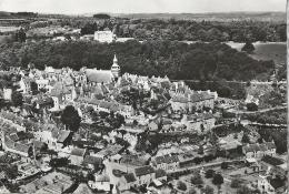 MONTCONTOUR DE BRETAGNE (22)  Vue D'avion De La Ville Le CHâteau Des Granges  CPSM Ayant  Circulé En 1956 - Moncontour