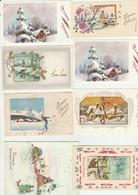CPM - Lot De Petites Cartes De Voeux Anciennes -  Toutes écrites Au Verso - Nouvel An