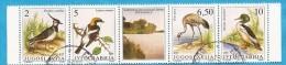 1991 X 2463-66 JUGOSLAVIJA  SERBIA SRBIJA SERBIEN FAUNA WWF ESPECES BIRDS PROTEGEES GESCHUEZTE TIEREN USED - W.W.F.