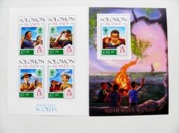 SALE! MNH Mint Post Stamps M/s Sheet Block From Solomon Islands 2013 Australian Scouts Scouting Koala Kengoroo - Solomoneilanden (1978-...)
