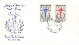 PERÚ - FDC 1961 OLYMPICS ROMA  Mi #605/606 - Peru