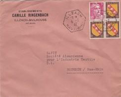 Mulhouse Lettre à Entête 1947 établissements Camille Ringenbach - Poststempel (Briefe)