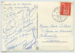 CP 1966 Adressée à Claude Collard, Président Du Comité Olympique Français . Signatures De La Délégation . Judo . - Autographes