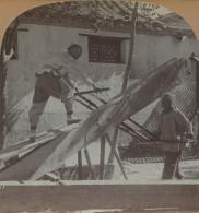 Stéréo Circa 1900 Keystone . A Chine Saw Mill , Peking , China . Scieurs De Long à Pékin , Chine . - Stereoscopio