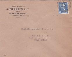 Mulhouse Lettre à Entête 1947 G Merklen & Cie Ateliers De Gravure - Marcophilie (Lettres)