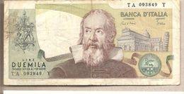 """Italia - Banconota Circolata Da 2000£ """"Galilei"""" - 1973 - [ 2] 1946-… : Républic"""