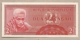 Indonesia - Banconota Non Circolata FdS Da 2 1/2 Rupie P-75 - 1956 - Indonesia