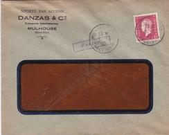 Mulhouse Lettre à Entête 1945 Danzas & Cie - Marcophilie (Lettres)