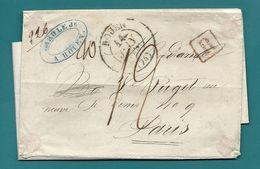 Seine Inférieure - Rouen Pour Paris. Lettre Recommandée. Peu Courant - Marcophilie (Lettres)