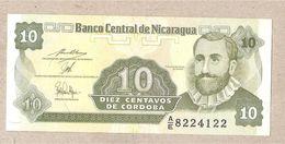 Nicaragua - Banconota Non Circolata FdS Da 10 Centesimi Di Cordoba P-169a.2 - 1991 - Nicaragua