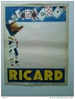 RICARD Jeux Dé Cartes Affiche Originale - Affiches
