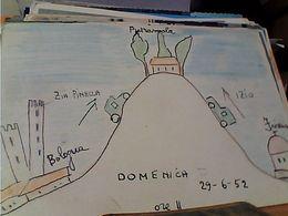 CARD DOT CATTANI BOLOGNA CHIMICA DISEGNO BAMBINO GITA PIETRAMALA FIRENZE BO VB1952 GN21591 - Disegni Infantili