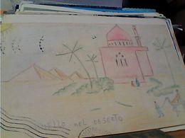 CARD  DISEGNO BAMBINO CAMMELO NEL DESERTO  VB1952 GN21592 - Disegni Infantili