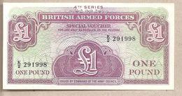 Forze Armate Britanniche - Banconota Non Circolata FdS Da 1 Sterlina - Quarta Serie P-M36a - 1962 - Emissioni Militari