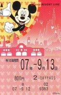 Carte Prépayée Japon  (1555c)  DISNEY * 800  * MICKEY MOUSE * JAPAN * PREPAID CARD - Disney