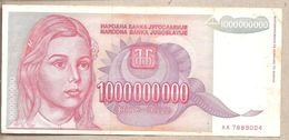 Jugoslavia - Banconota Circolata Da 1.000.000.000 Dinari P-126 - 1993 - Yugoslavia