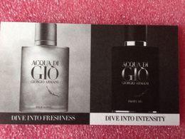 AQUA DI GIO  DE GIORGIO ARMANI - Perfume Cards