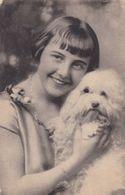 Girld Holding Bichon Frise Or Maltese - Maltasian Dog - Chien - Cane - Hund - Hond - Perro - Dogs