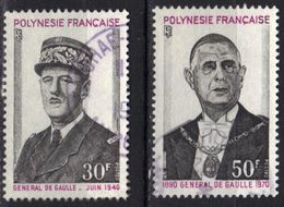 Polynésie N° 89 - 90  De Gaulle - Französisch-Polynesien