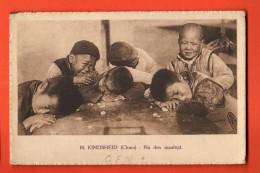 GBG-19 China Heilige Kindsheid . Na Den Maaltijd. Not Used. Missiebond Antwerpen - Chine