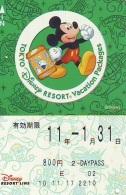 Carte Prépayée Japon * TOKYO DISNEY * RESORT LINE (1557)  MICKEY MOUSE * 800  2-daypass * JAPAN PREPAID CARD - Disney