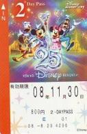 Carte Prépayée Japon * TOKYO DISNEY * RESORT LINE (1566) MICKEY MINNIE DONALD DUCK * 800  2-daypass * JAPAN PREPAID CARD - Disney