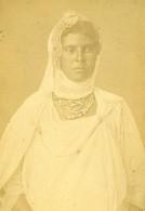 Algerie Femme Kabyle Portrait Ancienne Photo Carte Cabinet Geiser 1880 - Africa