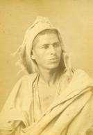 Algerie Jeune Homme Portrait Ancienne Photo Carte Cabinet Geiser 1880 - Africa