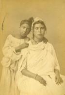 Algerie Jeunes Femmes Kabyle Portrait Ancienne Photo Carte Cabinet Geiser 1880 - Africa