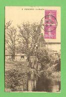 CPA FRANCE 59  ~   PRISCHES  ~  2  Le Moulin  ( 1933 )  2 Scans - Altri Comuni