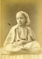 Algerie Portrait De Jeune Fille Enfant Ancienne Photo Carte Cabinet Famin 1880 - Africa