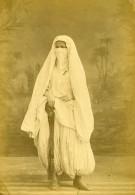 Algerie Femme Voilée Portant Le Niqab ? Ancienne Photo Carte Cabinet Famin 1880 - Africa