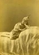 Algerie Portrait De Jeune Fille Mauresque? Ancienne Photo Carte Cabinet Famin 1880 - Africa
