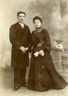 France Lille Couple Ancienne Photo Carte Cabinet Vandorpe 1890 - Photographs