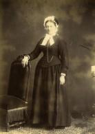 France Dame Portrait De Femme En Pied Ancienne Photo Carte Cabinet 1890 - Photographs