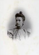 France Paris Femme Portrait Ancienne Photo Carte Cabinet Liebert 1890 - Old (before 1900)